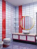3d bathroom rendering