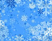 blue snow flakes