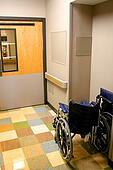 Wheel Chair In A Hospital