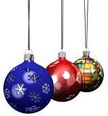 Christmas Ornament Decorations Set 3D