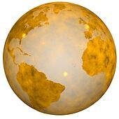 Golden Earth Globe