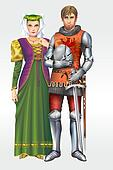 Medieval Knight with Wife