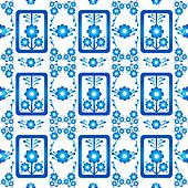 oriental style seamless pattern vector nine