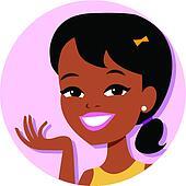 Girl Cartoon Icon Illustration