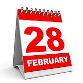 Calendar. 28 February.
