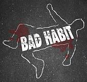 chalk outline - BAD HABIT