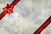 Grunge gift box with shiny bow