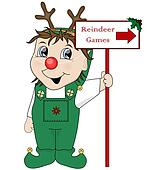 Elf & reindeer games sign