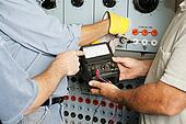 Electrical Team Testing Voltage