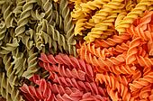colored fusill pasta