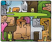 Animal Puzzle (illustration)