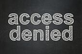 Privacy concept: Access Denied on chalkboard background