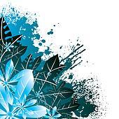 floral corner blue