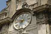 ornate clock, Spoleto, Italy