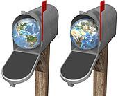 Earth Globe in Mailbox