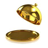 3d Gold tray opens