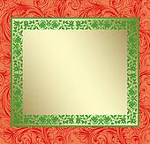 Red Damask Christmas Copy Space