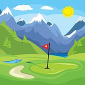 Golfing in the mountains