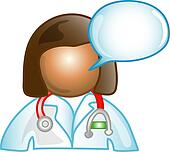 Female Dr. comment icon