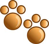 Paw print icon or syymbol