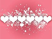 Pink Hearts Valentines Day Card