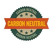 Label with the text Carbon neutral