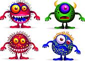 Four cute creature