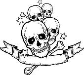 Heavy Metal  Rock Banner Tattoo