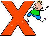 letter X boy