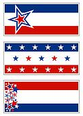 Red White & Blue Banners