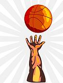 Basketball hand rebo