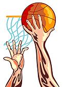 Basketball hands blo