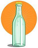 Softdrink bottle lime