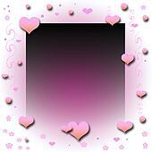 valentine pink frame