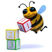 3d Bee counts blocks