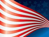 Waving American Flag Back