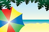 Colorful Beach Scene