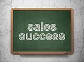 Marketing concept: Sales Success on chalkboard background