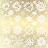 gold christmas background with snowflakes,  illustration , vintage texture