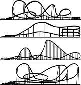 Roller Coaster Clip Art - Royalty Free - GoGraph