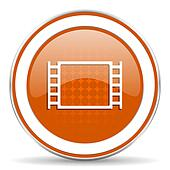 movie orange icon