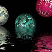 balls over water