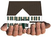 House in Hands Home Real Estate Offer