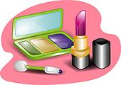 Beauty set illustration