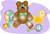 Baby toy set illustration