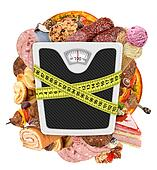 Measuring tape  diet concept