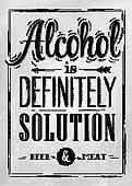 Poster joke Alcohol coal