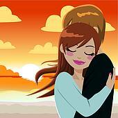 Passionate Sunset Hug