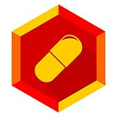 drugs flat design modern icon