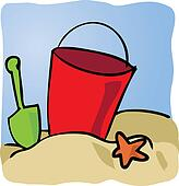 Seaside beachbucket